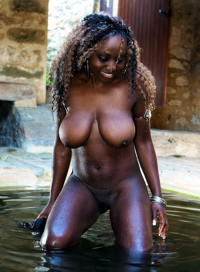 Sexy black girl with big boobs