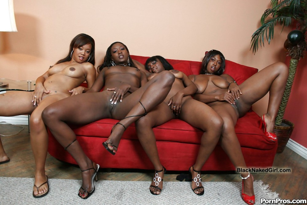 Ebony babe masturbating