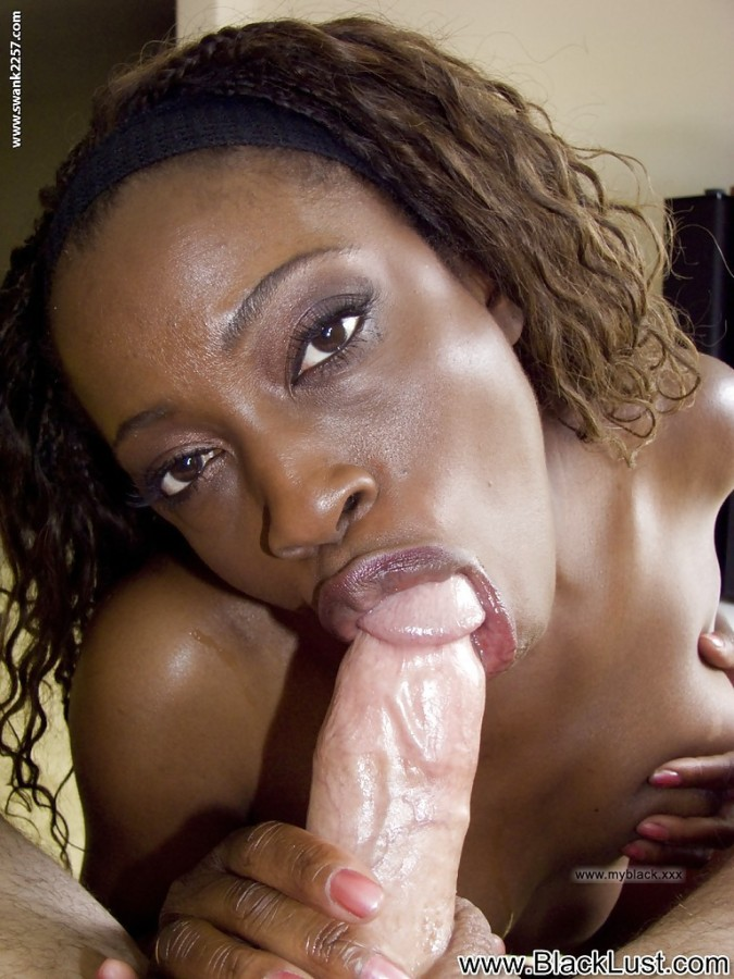 Ebony Teen First White Cock