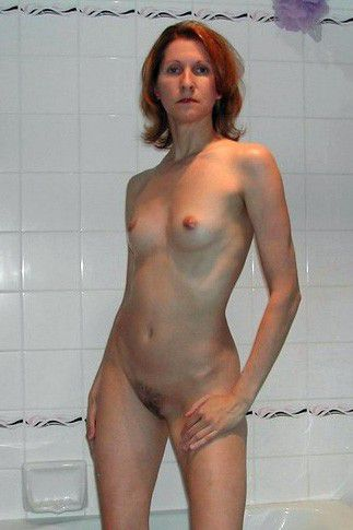 ex naked in the bathroom