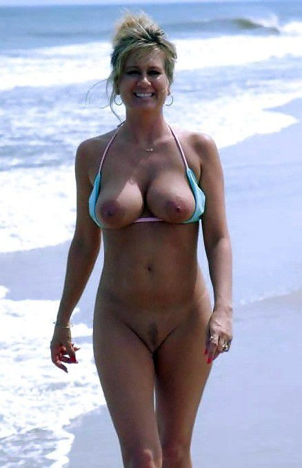 Busty moms on the beach