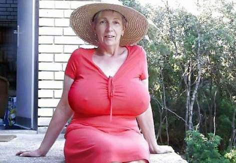 Apologise, but, Old women huge breasts