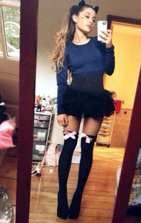 Stockings selfie teen
