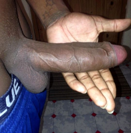 Tasty big black cock for horny brunette om nom nom