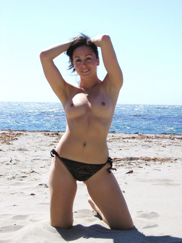 Sexy milf on the beach