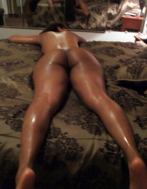 black bed laying Curvy woman on