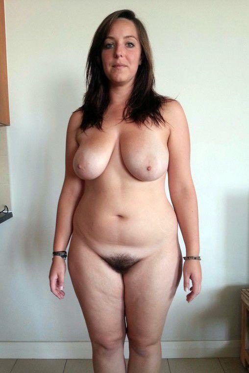 Nude chubby brunette milf
