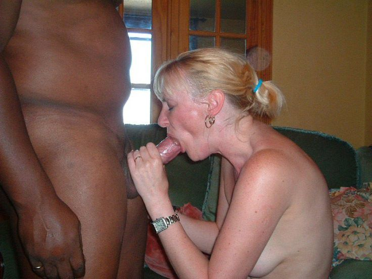 Blonde trashy whore takes cock