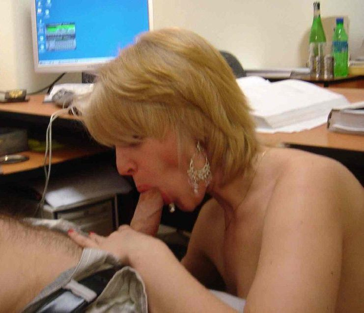 Office Mom Blowjob