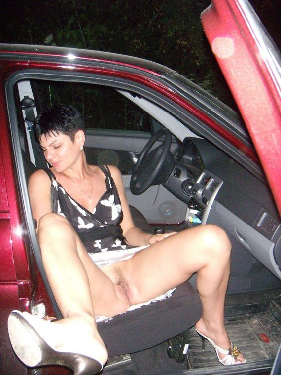 Nude brunette outdoors mom
