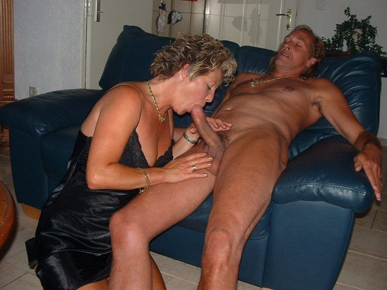Private swinger blow job
