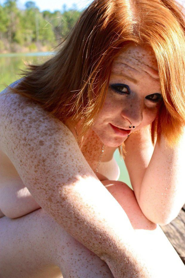 Beautiful naked redhead females