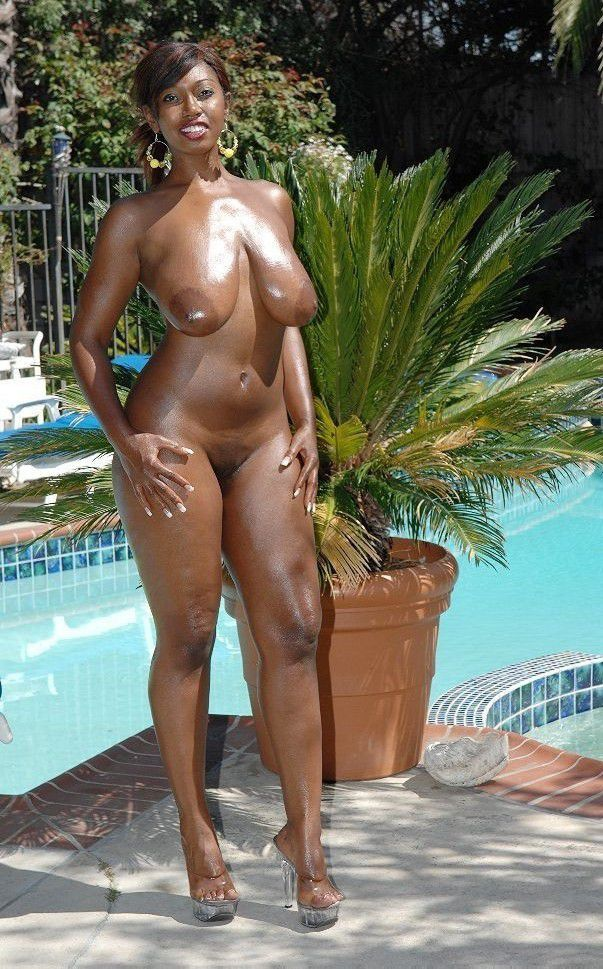 black ladies naked in a pool