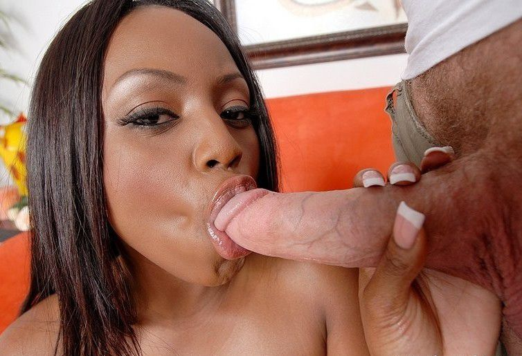 Cute black girl sucking dick