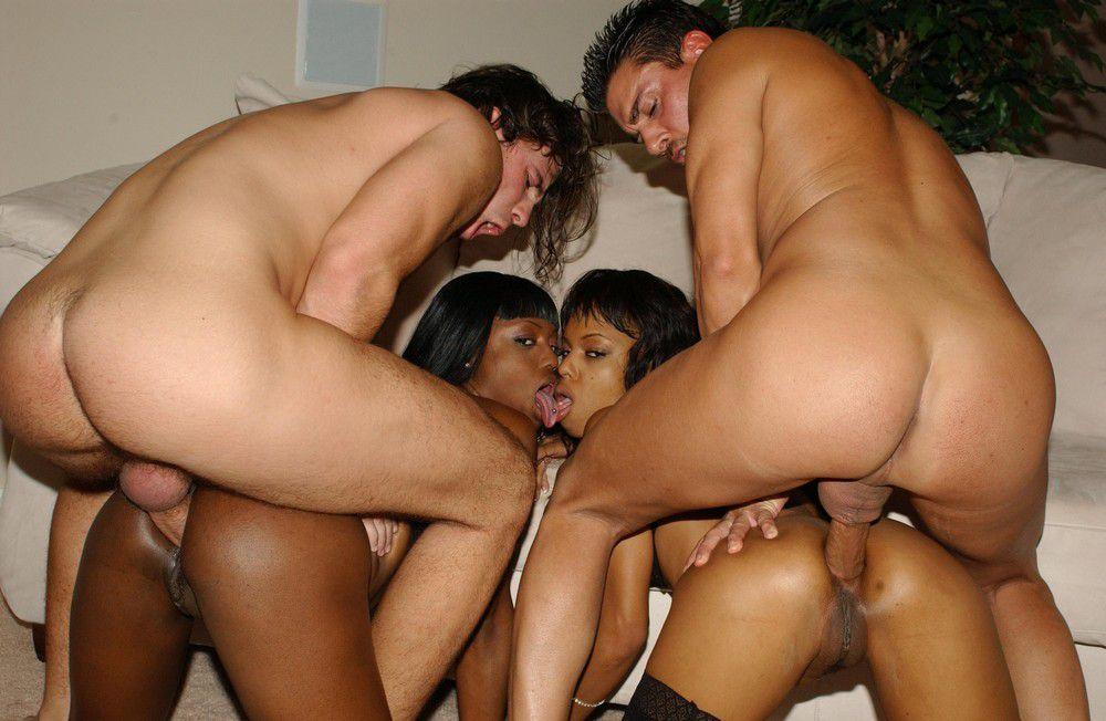 Nude lesbian women in the shower