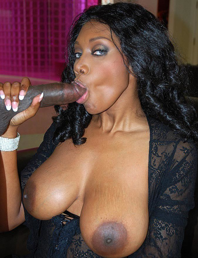 Busty blow job ebony bent over cumm