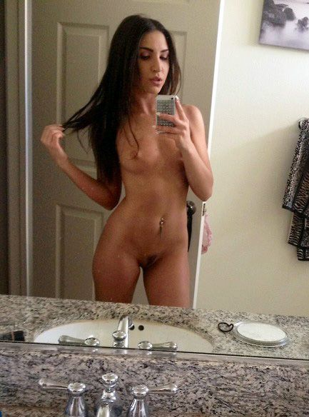 Self shot brunette naked, naked girls ninja