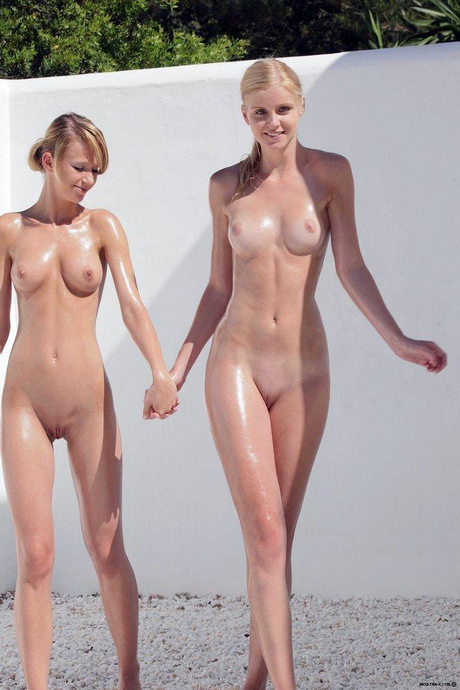 Young blonde school girls
