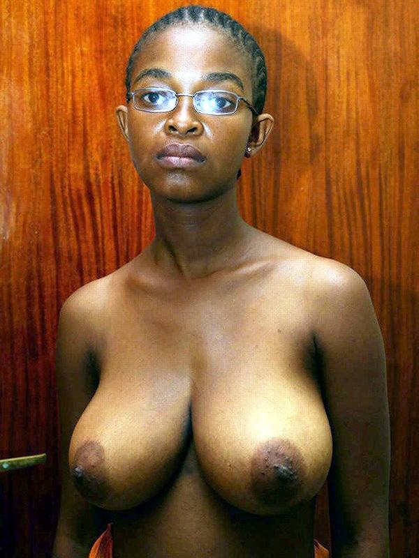 Black Girl Natural Tits